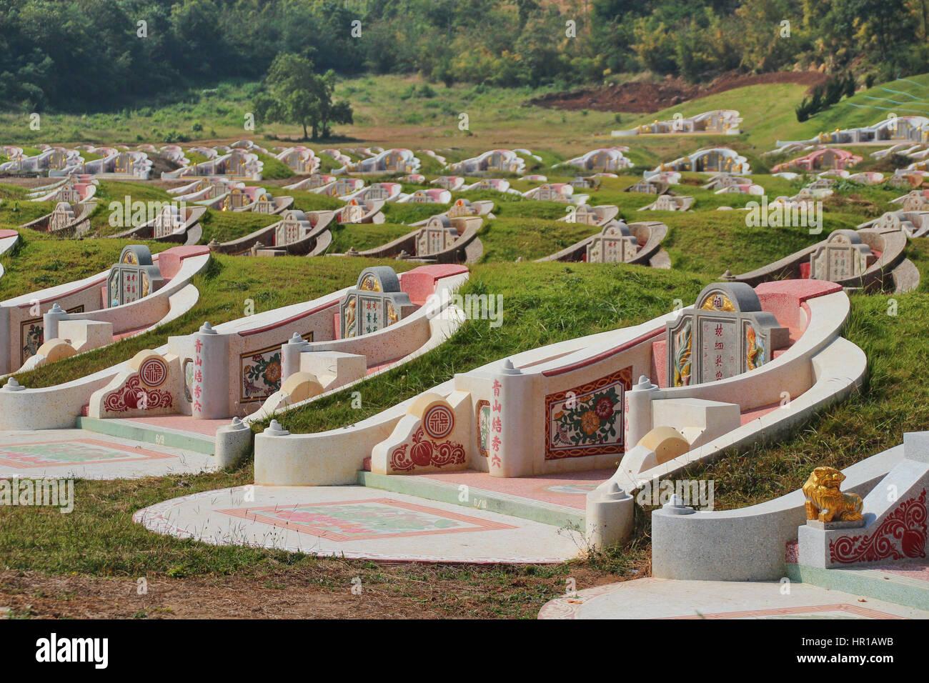 Tomba cinese - Fengshui in Thailandia Immagini Stock