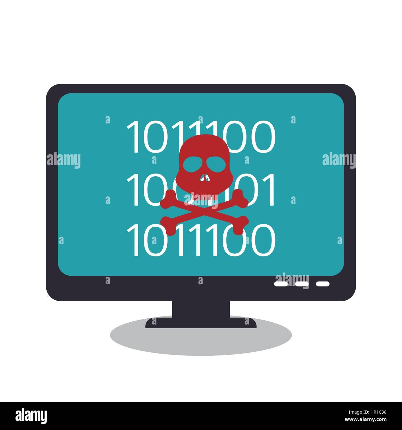 Hacking del concetto di sistema le icone Immagini Stock