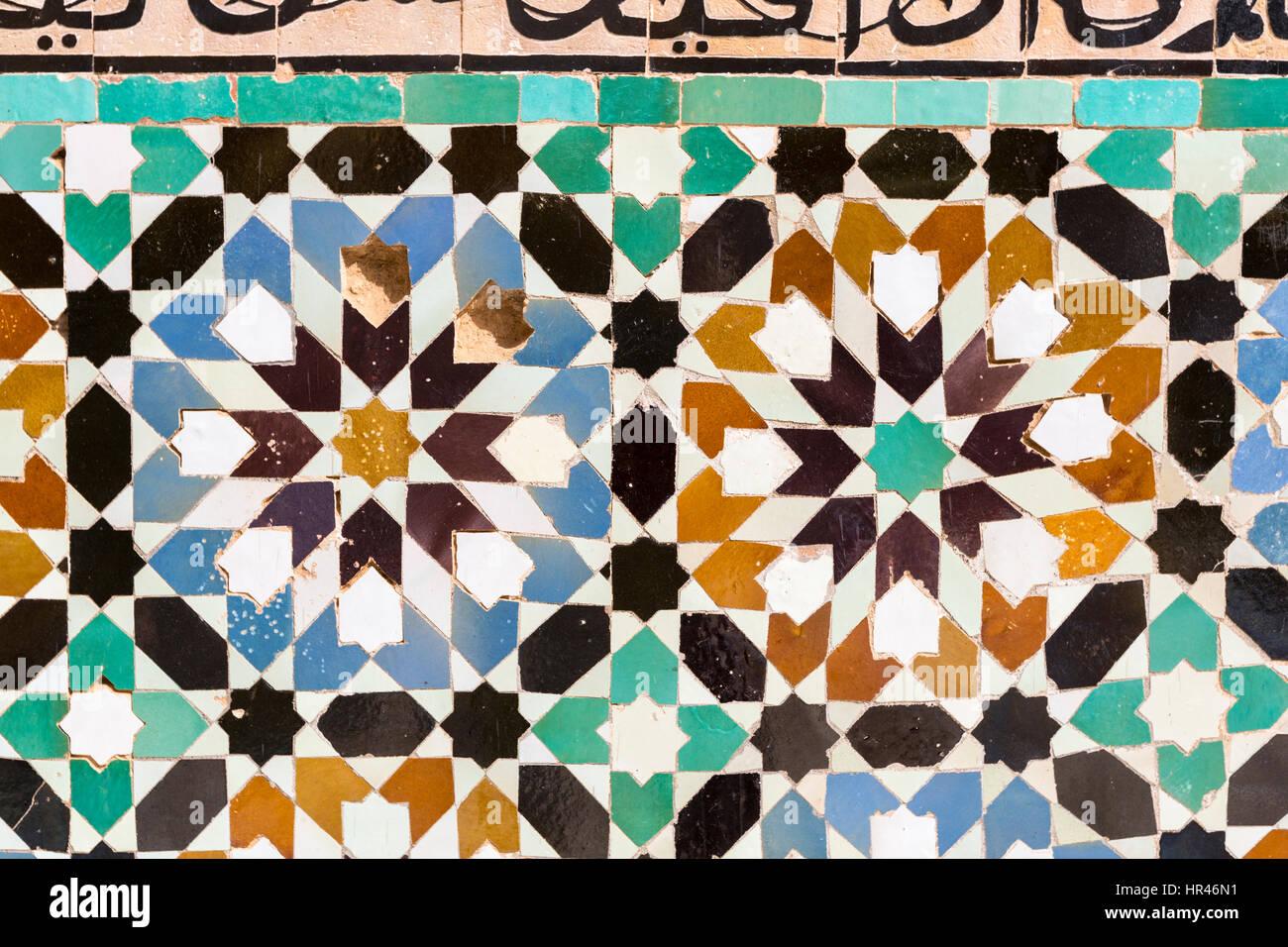 Marrakech marocco zellij marocchini mosaico la decorazione di