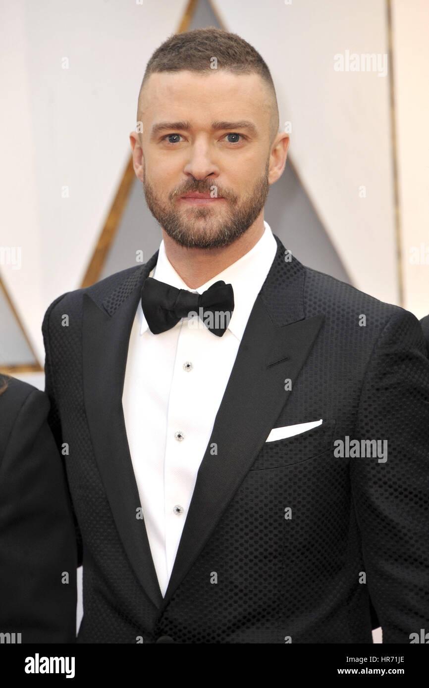 Hollywood, California. 26 Febbraio, 2017. Justin Timberlake assiste l'ottantanovesimo annuale di Academy Awards Immagini Stock