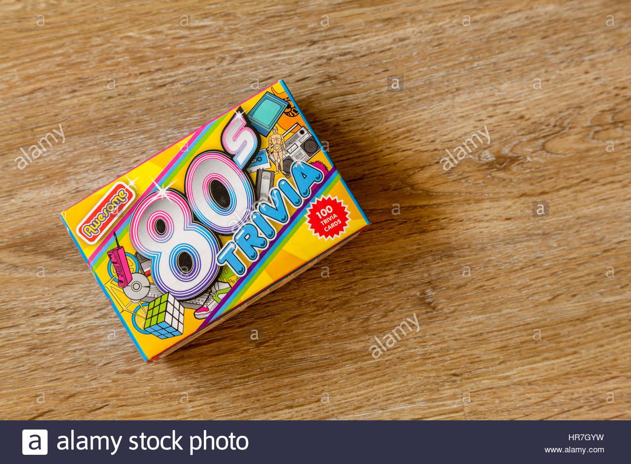 anni ' 80 gioco trivia Immagini Stock