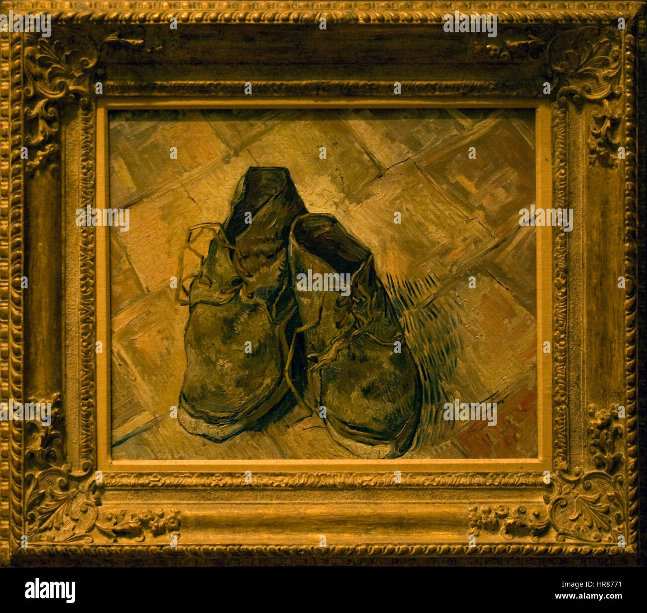 Vincent van Gogh un paio di scarpe Foto & Immagine Stock
