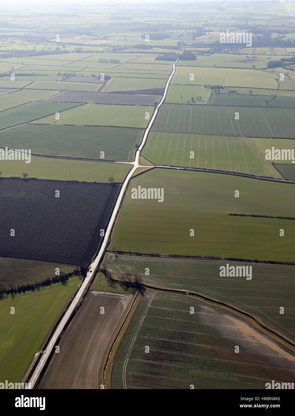 Vista aerea del Derôme Street Strada Romana B6275 County Durham, Regno Unito Immagini Stock