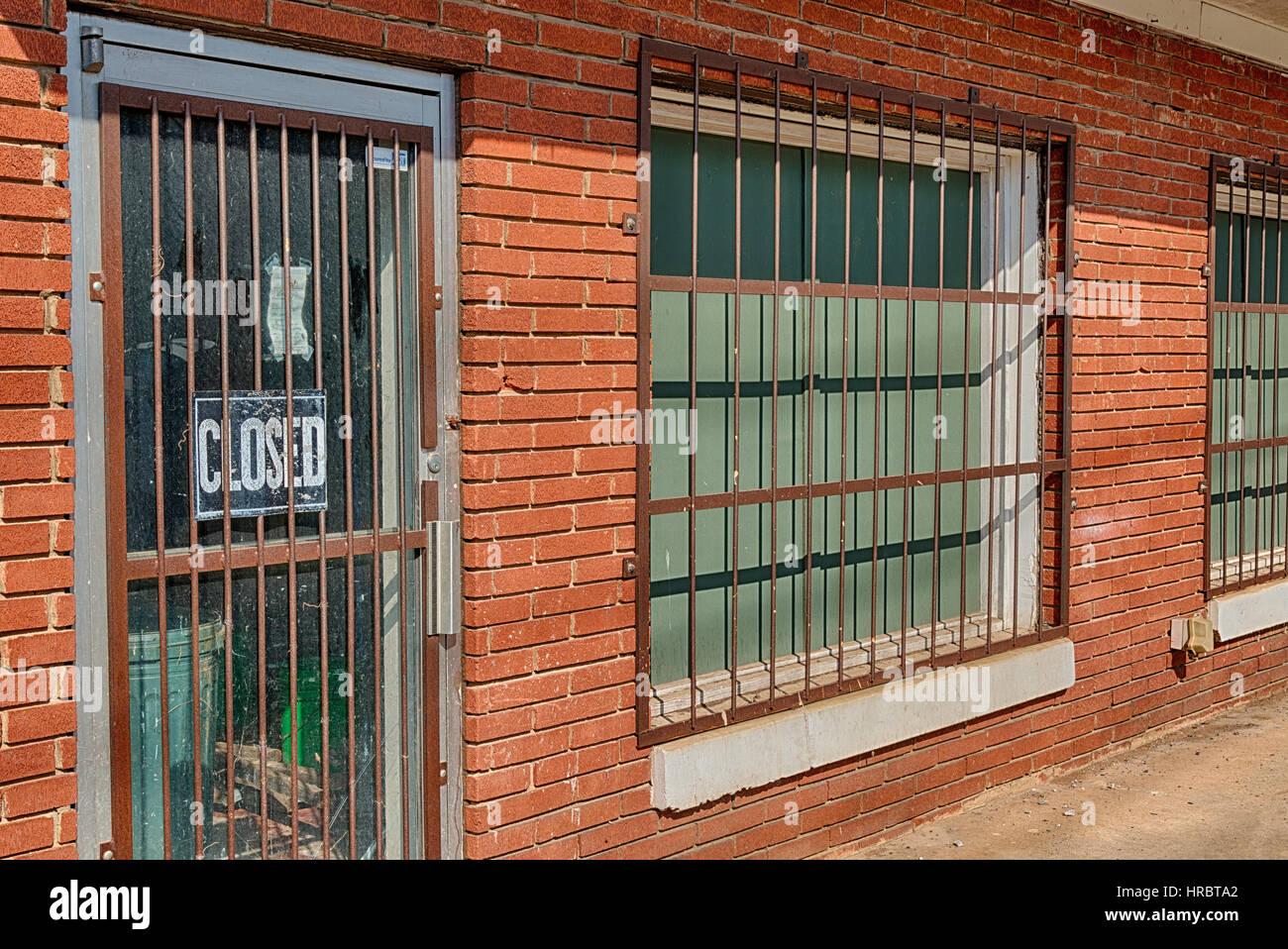 In bancarotta Business Facility Immagini Stock