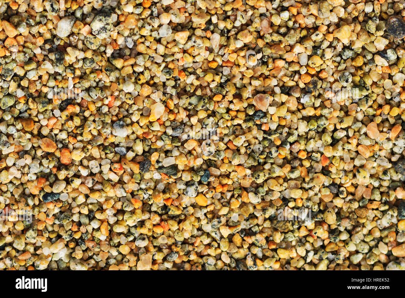 La texture di ciottoli,texture microcosmo, desktop, migliaia di colori delle pietre Immagini Stock