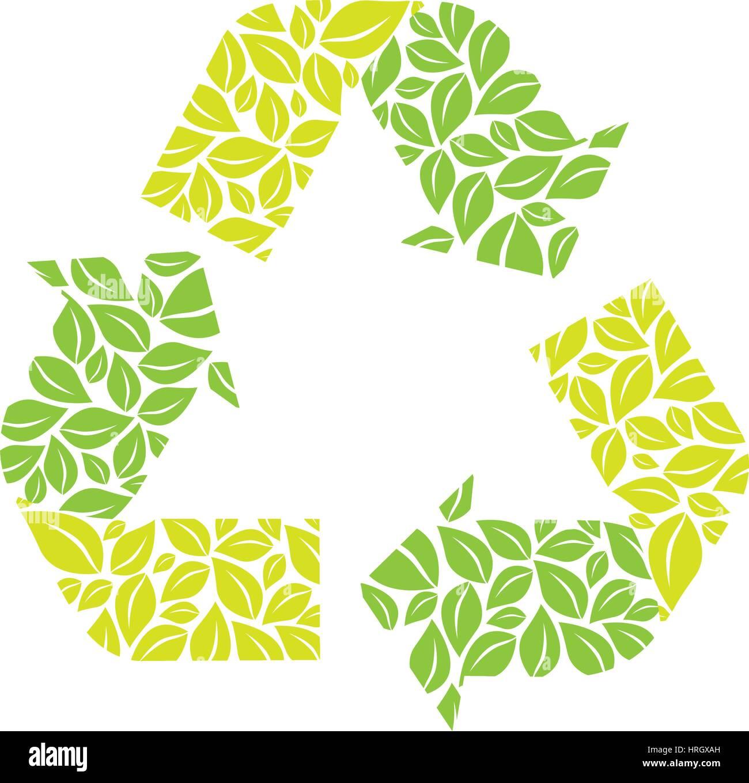 Il riutilizzo di simbolo, ridurre e riciclare icona Immagini Stock