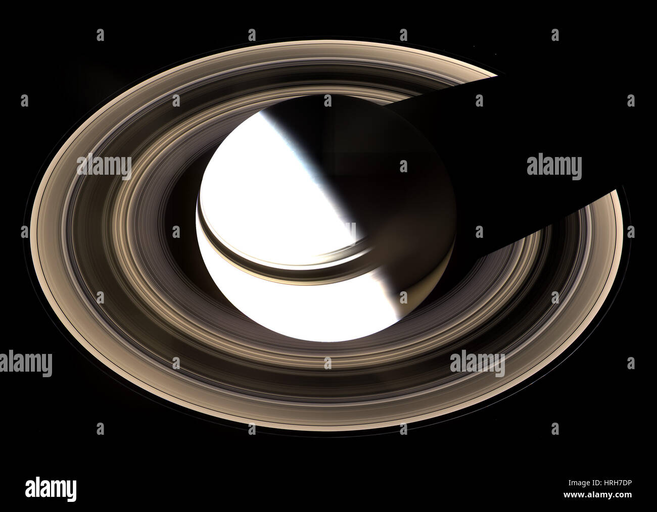 Saturno e i suoi anelli Immagini Stock