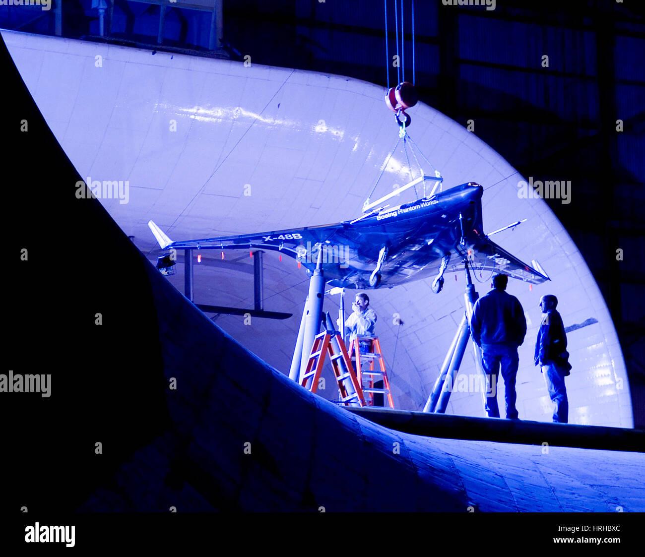 Ispezione X-48B concetto Demonstrator Immagini Stock