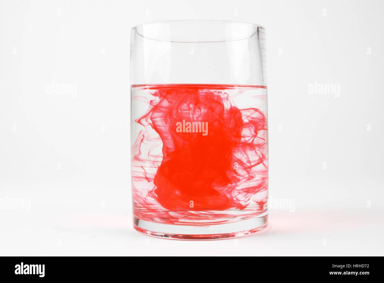 Colorante in acqua, 10 di 13 Immagini Stock