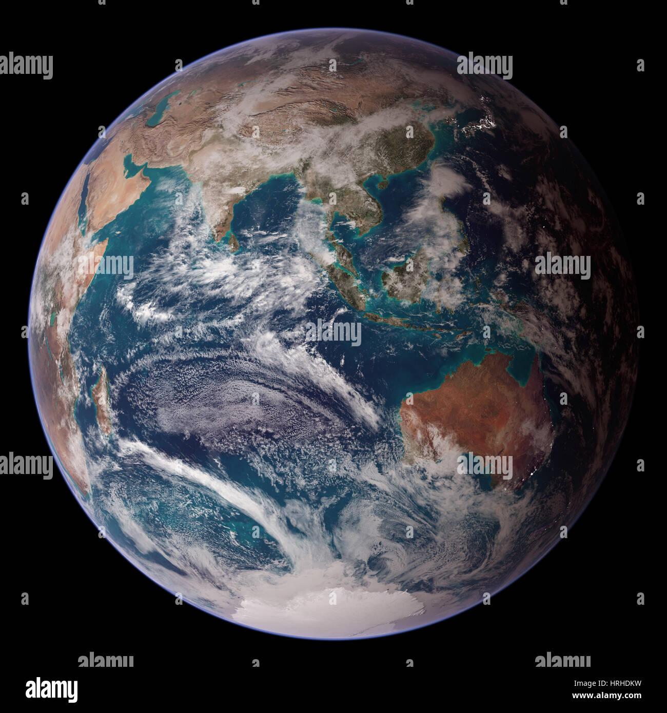 Messa a terra, Emisfero Occidentale Immagini Stock