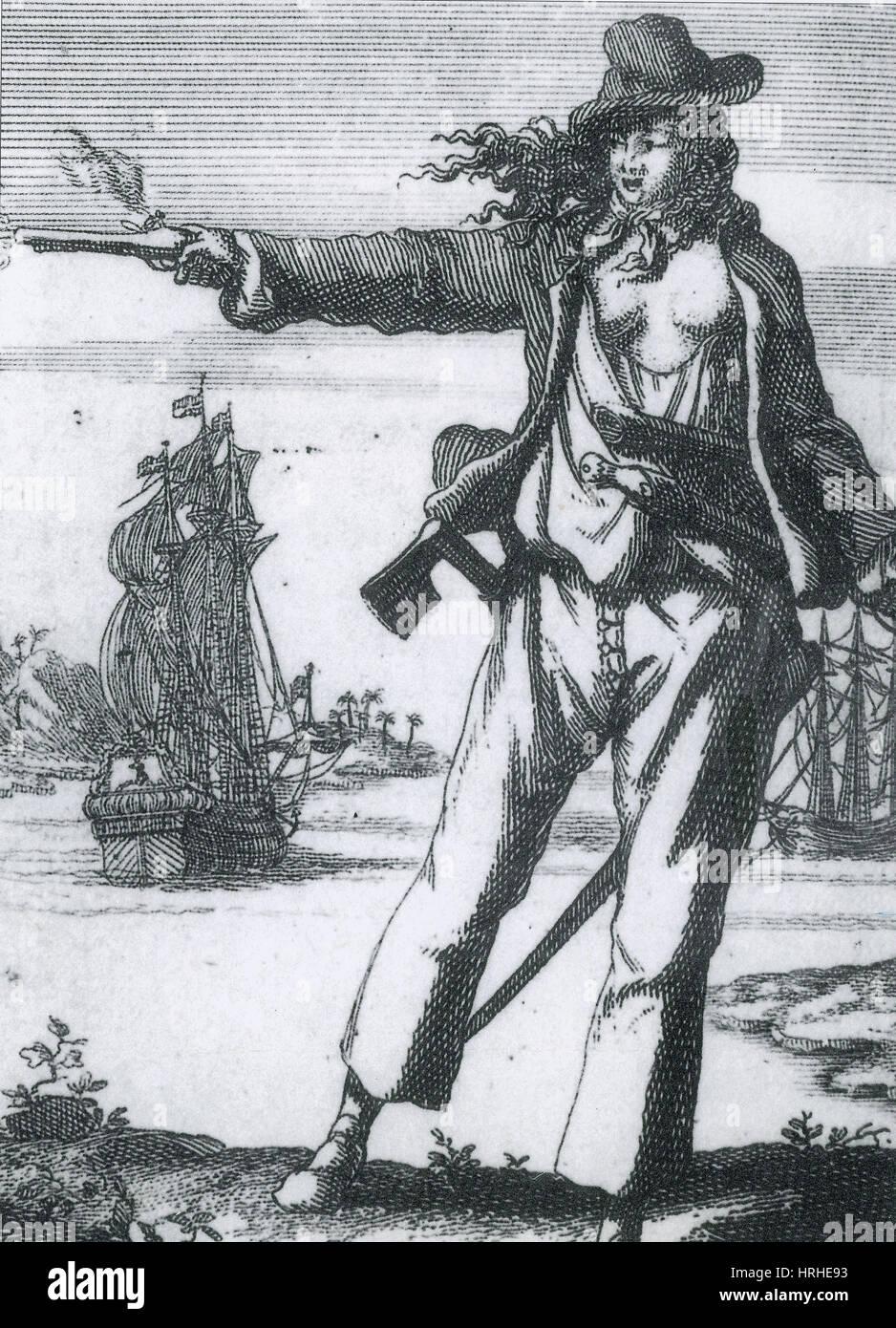 Anne Bonny, XVIII secolo pirata Immagini Stock