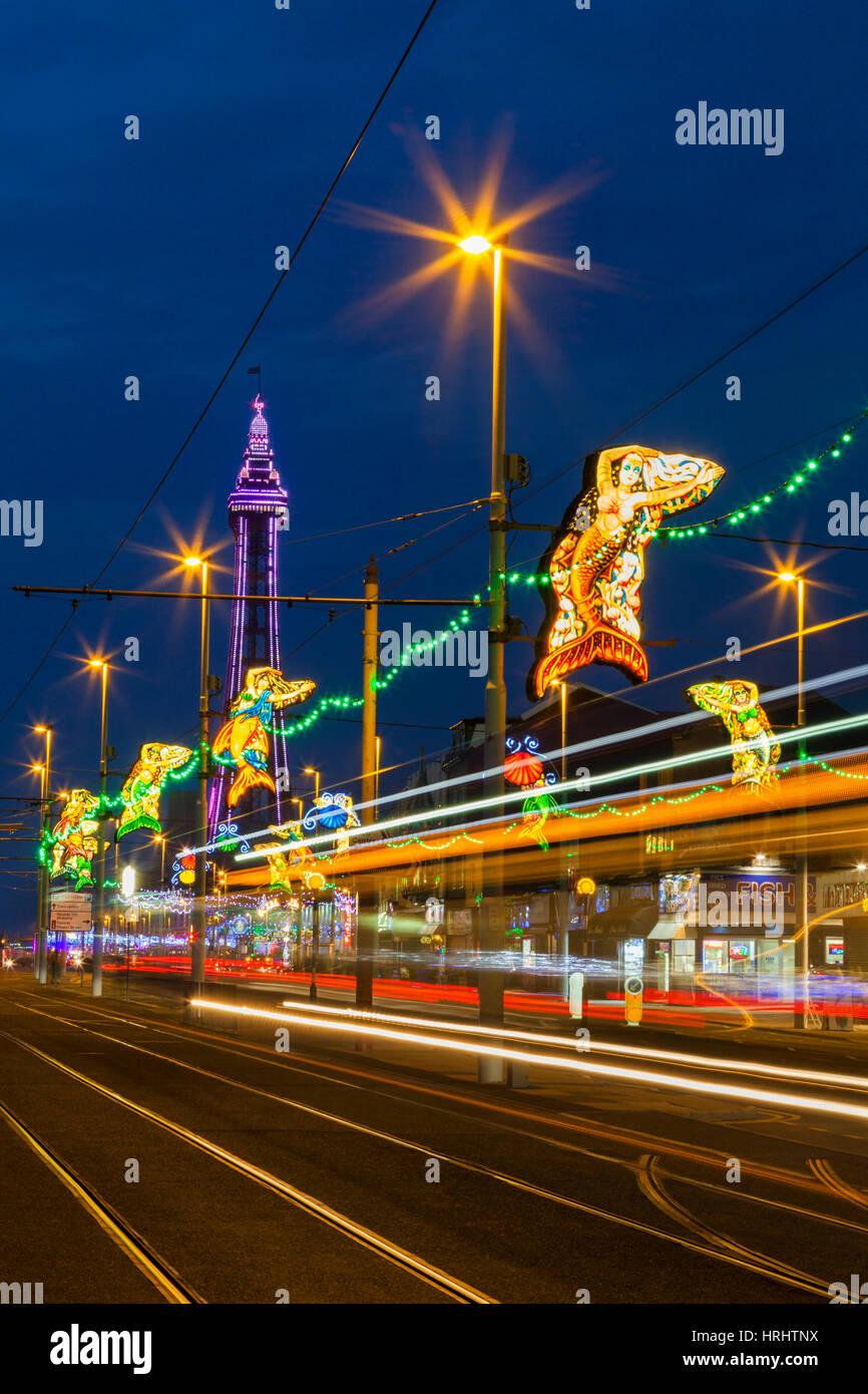 Luminarie, Blackpool, Lancashire, Inghilterra, Regno Unito Immagini Stock