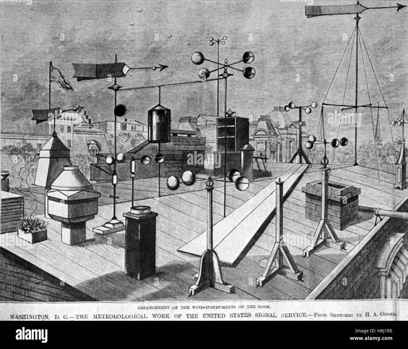 Strumenti a fiato, 1880 Immagini Stock