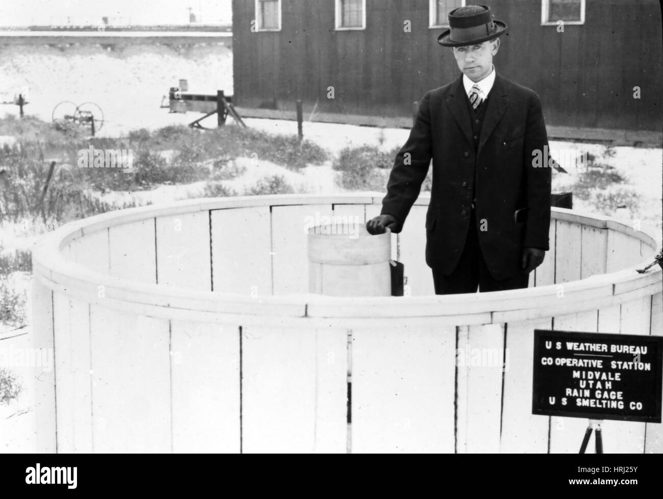 Indicatore pioggia, 1930 Immagini Stock