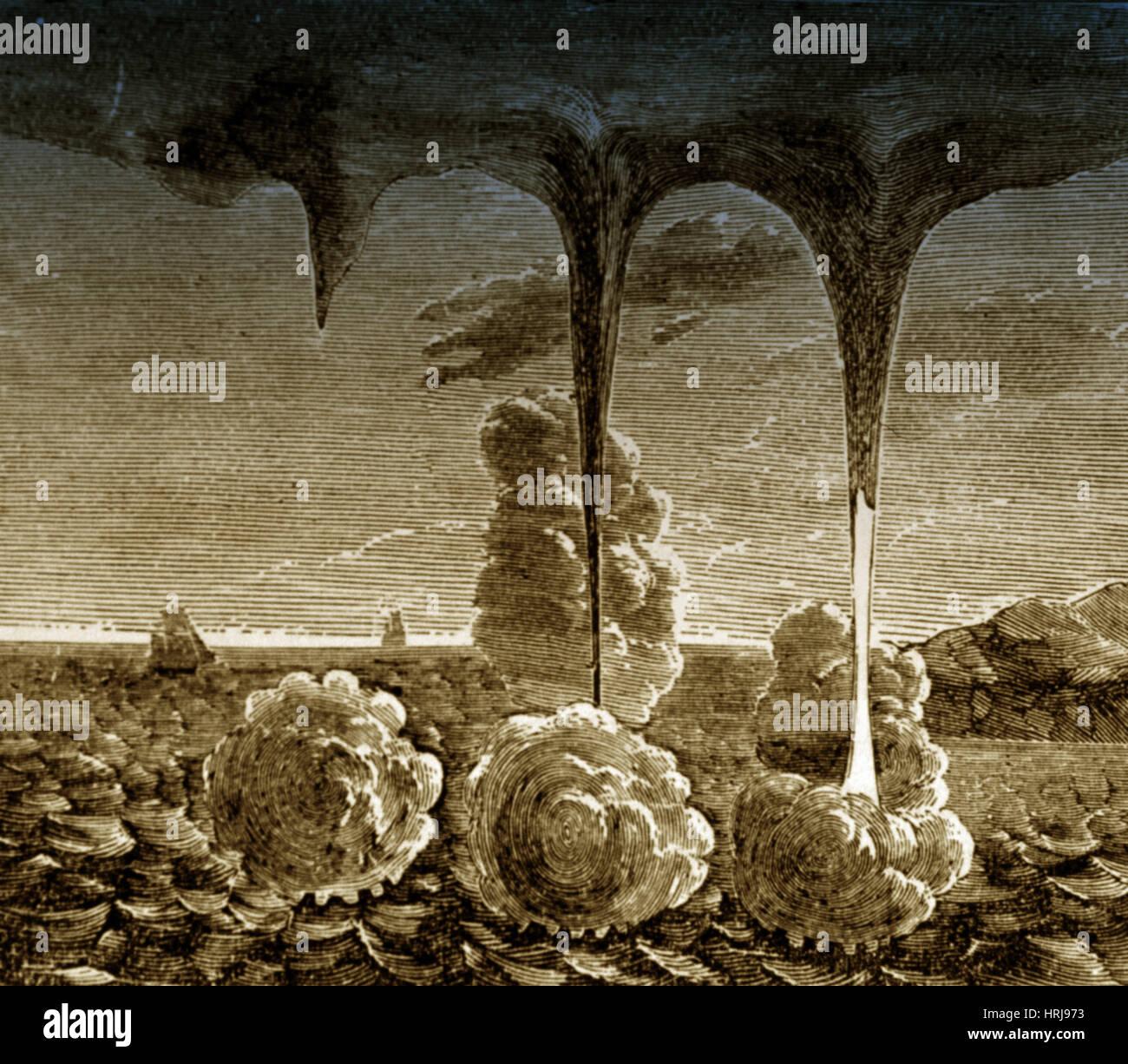 Fasi di trombe, 1880 Immagini Stock