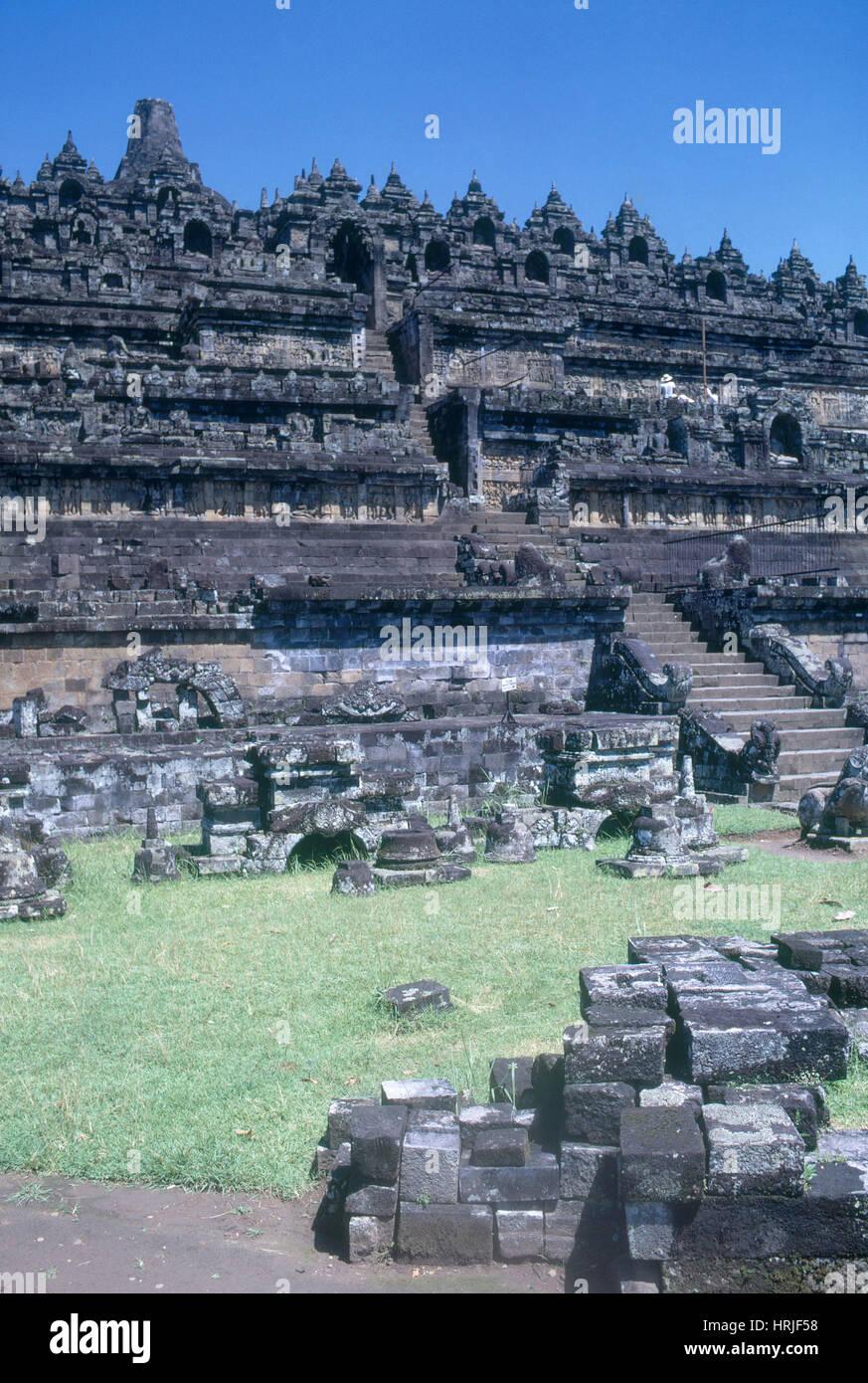 Antico tempio Borobudar Immagini Stock