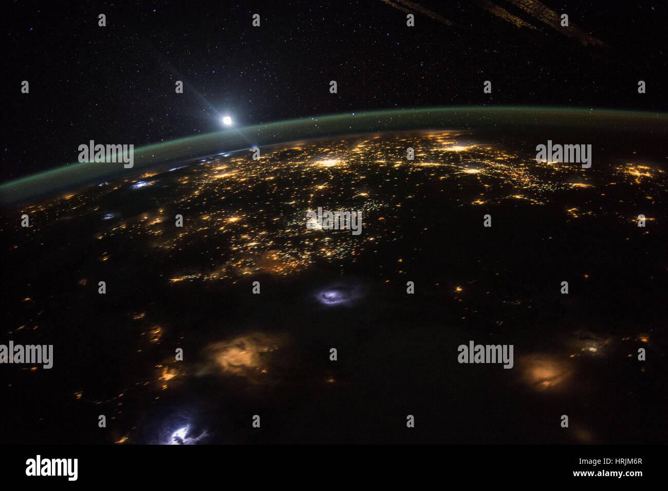 Sunrise oltre gli Stati Uniti occidentali Immagini Stock