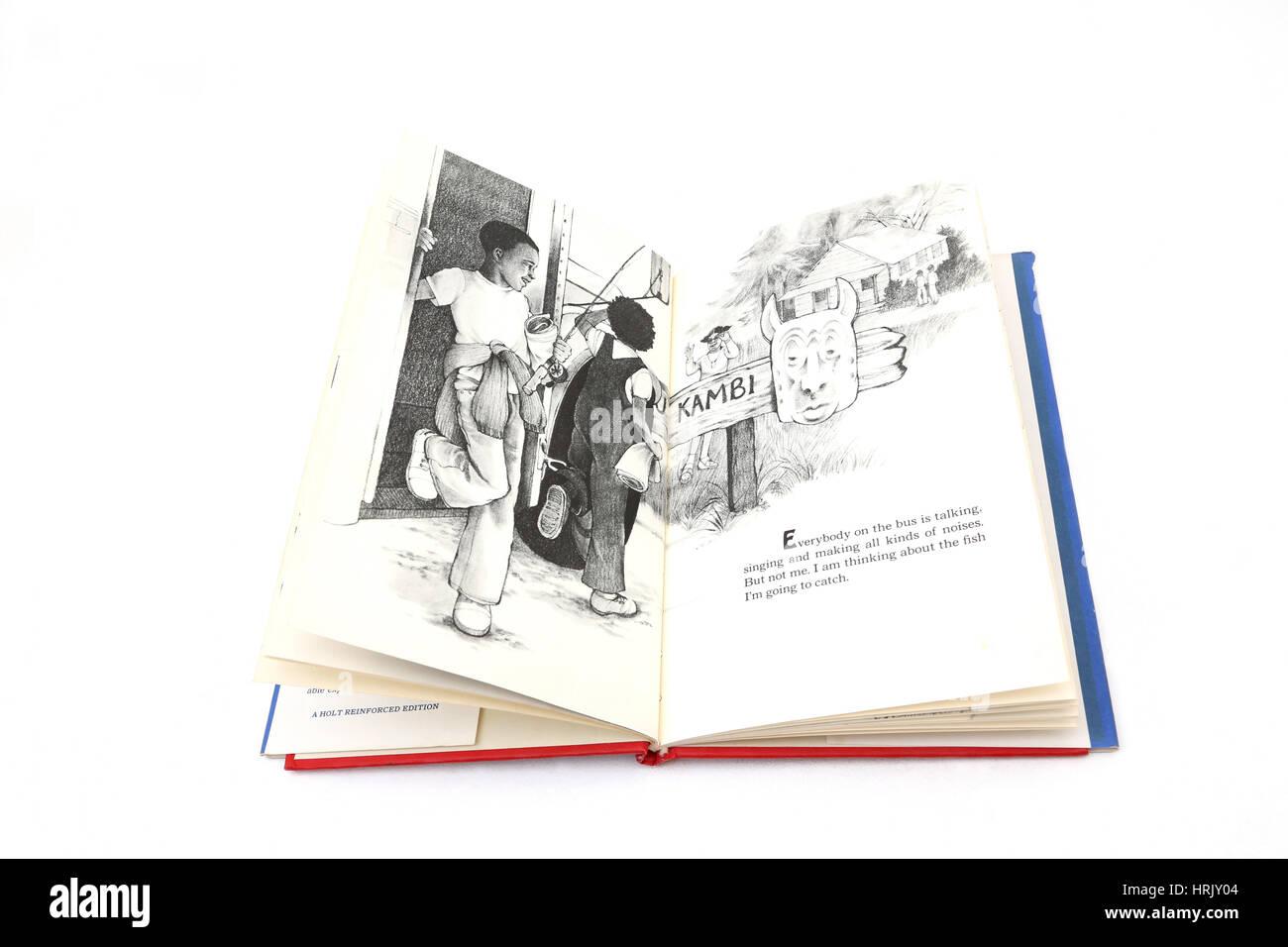 Il mio amico pesce Libro di Mamie Hegwood illustrazioni di Diane de Groat Immagini Stock