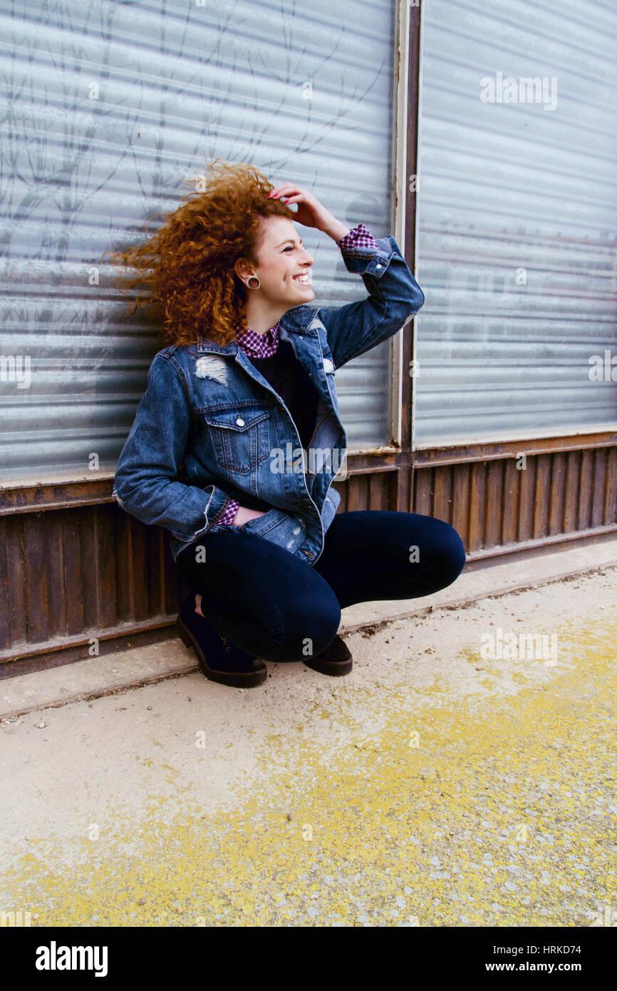 Ritratto di una bella redhead adolescente Immagini Stock