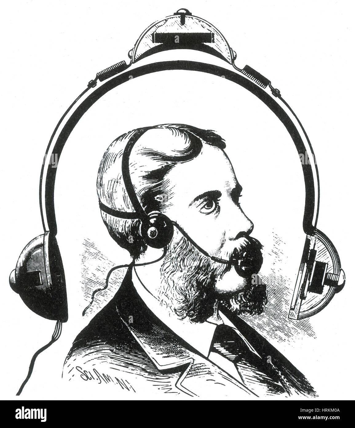 McDermott di telefono, 1880 Immagini Stock