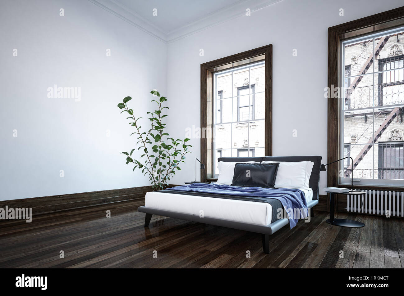 Camera Da Letto Legno Moderna : Camera da letto moderna in un moderno appartamento o casa con