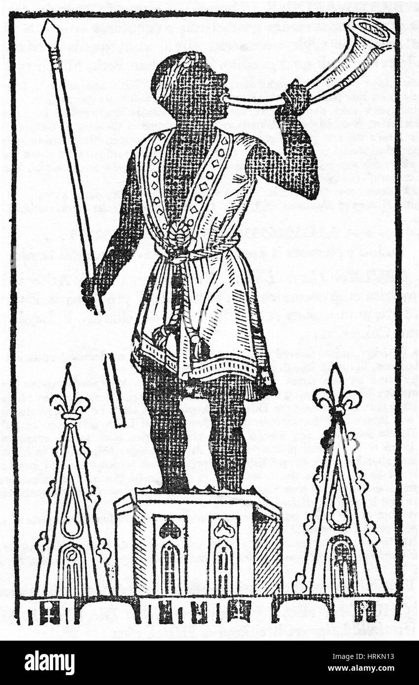 Bradwardinian xilografia Immagini Stock