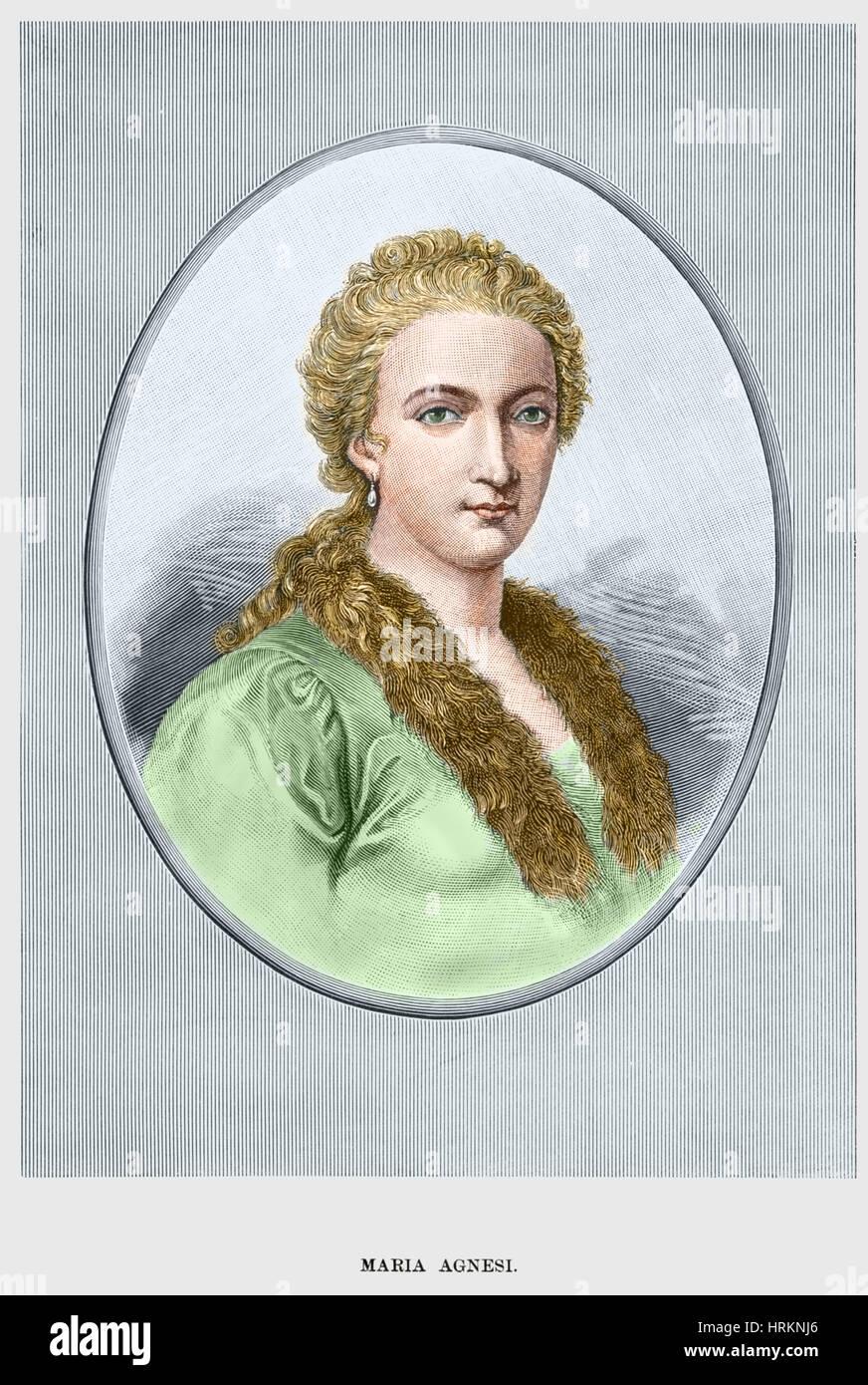 Maria Gaetana Agnesi, Matematico italiano Foto stock - Alamy