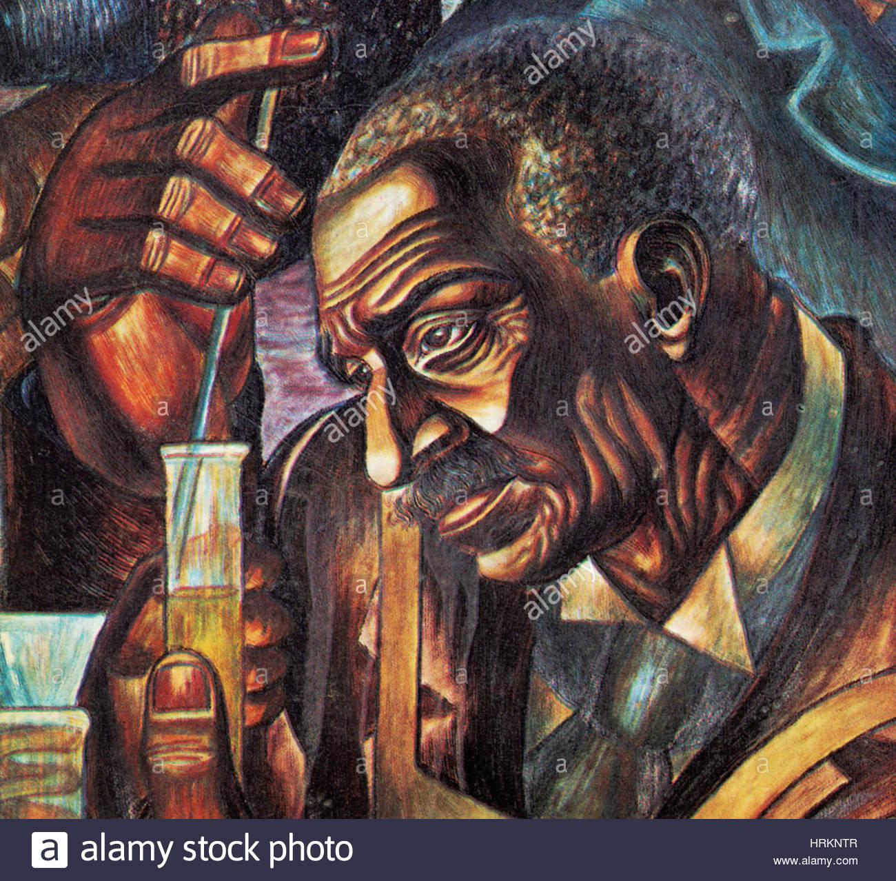 George Carver, afro-americano di botanico Immagini Stock