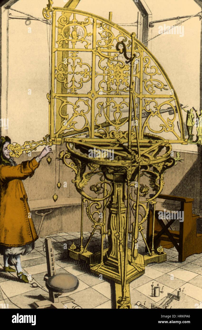 Quadrante, xvii secolo Immagini Stock