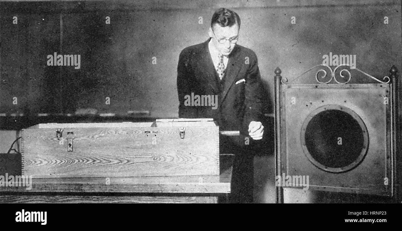 Contatore Geiger dimostrazione, 1930 Immagini Stock