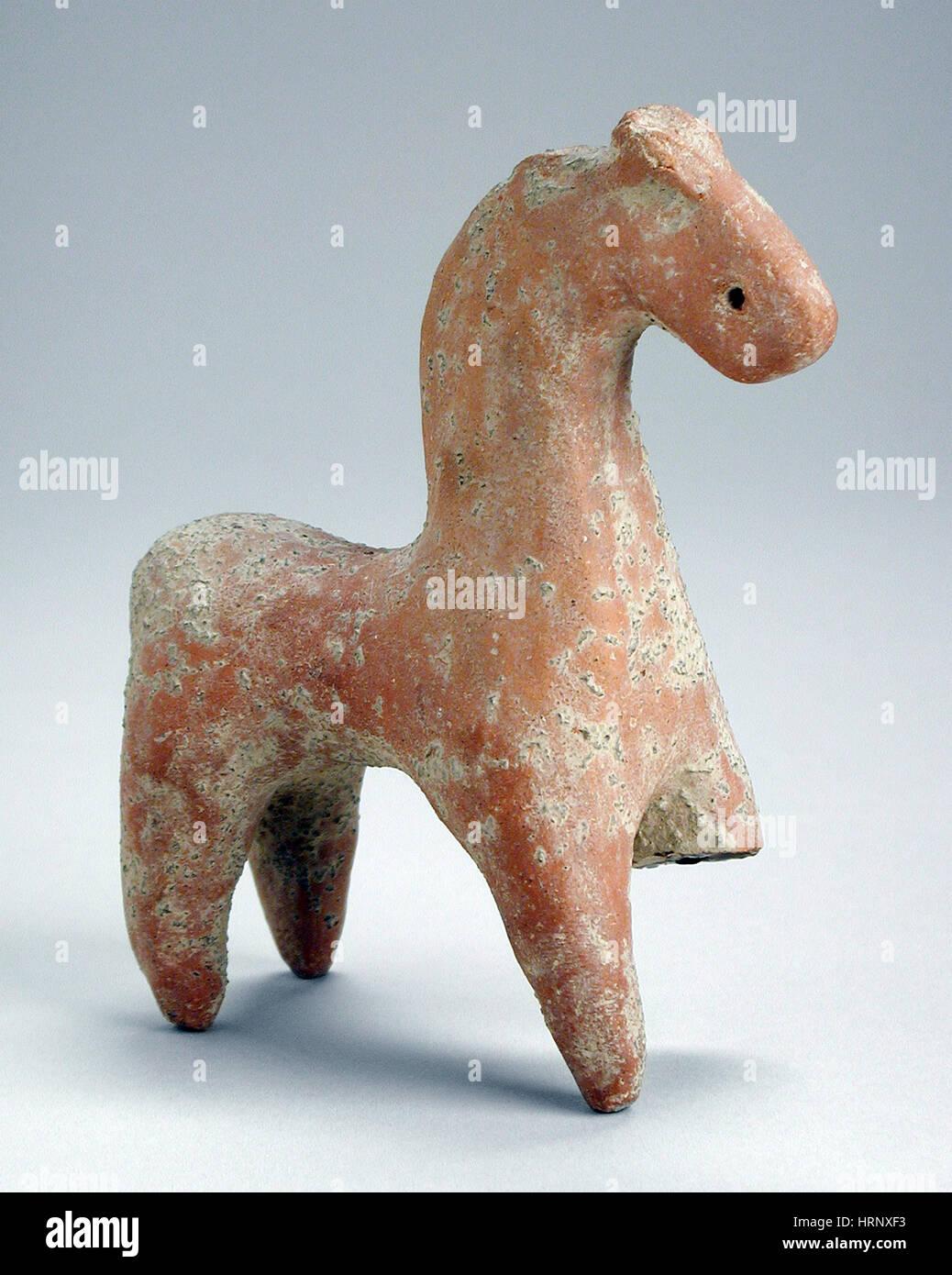 Cavallo Giocattolo, I secolo A.C. - I secolo d.c. Immagini Stock