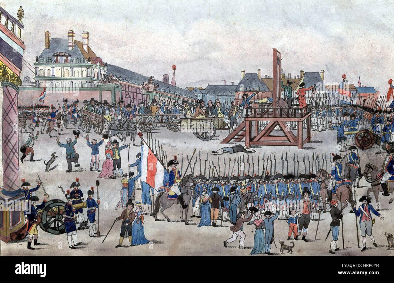 Il regno del terrore leader dell' esecuzione, 1794 Immagini Stock