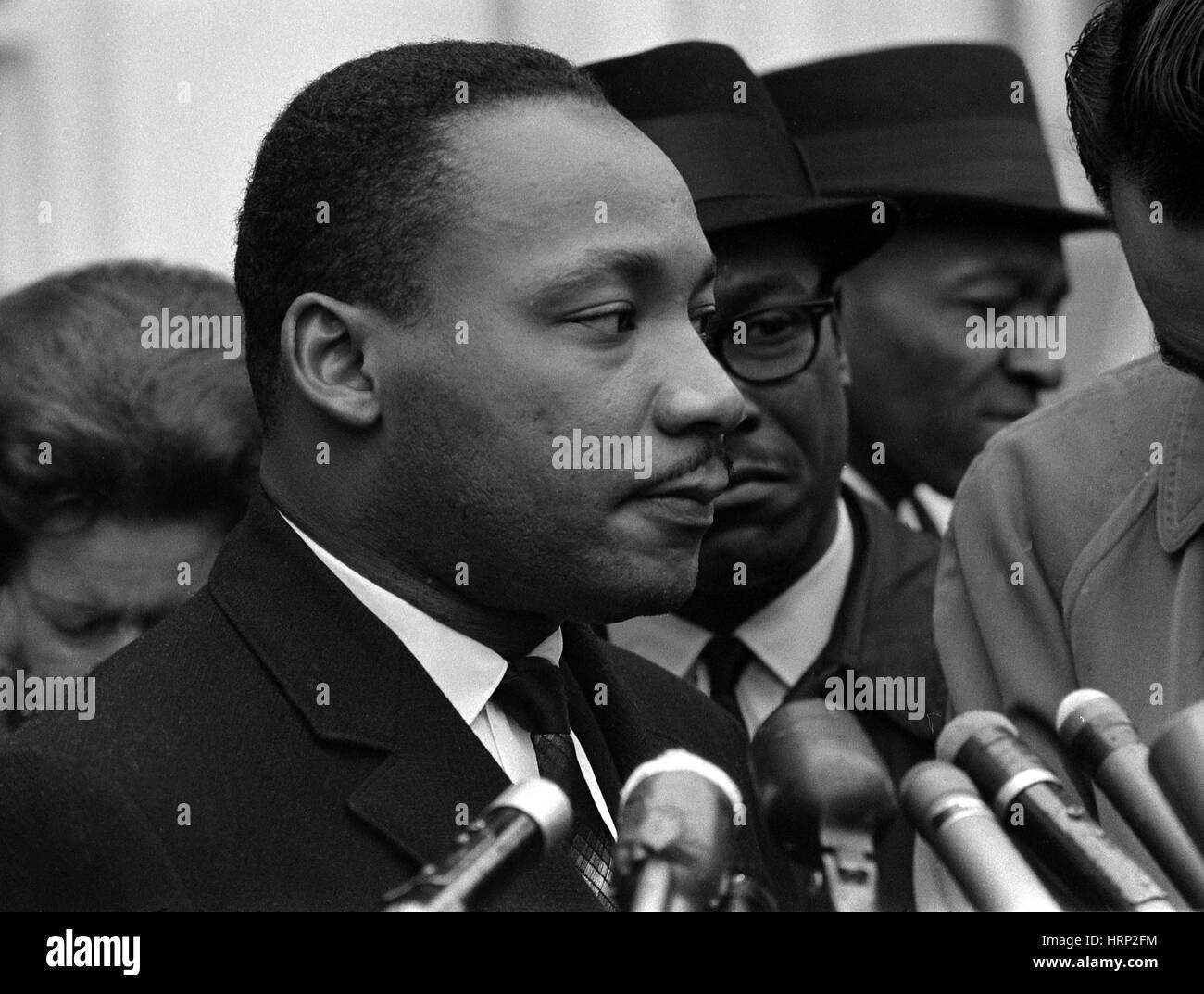 Martin Luther King Jr., leader dei diritti civili Foto Stock