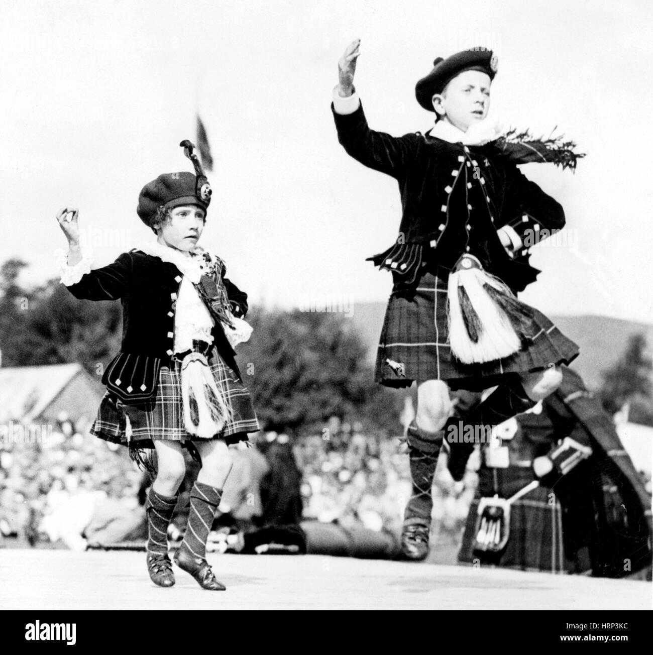 Scottish Country Dancers, xx secolo Immagini Stock