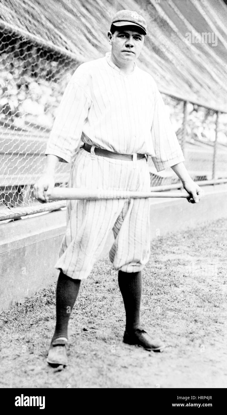 Babe Ruth, baseball americano legenda Immagini Stock