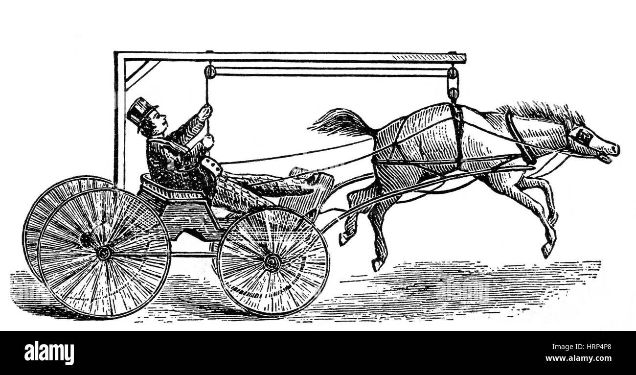 Cavallo Anti-Runaway trovato Immagini Stock