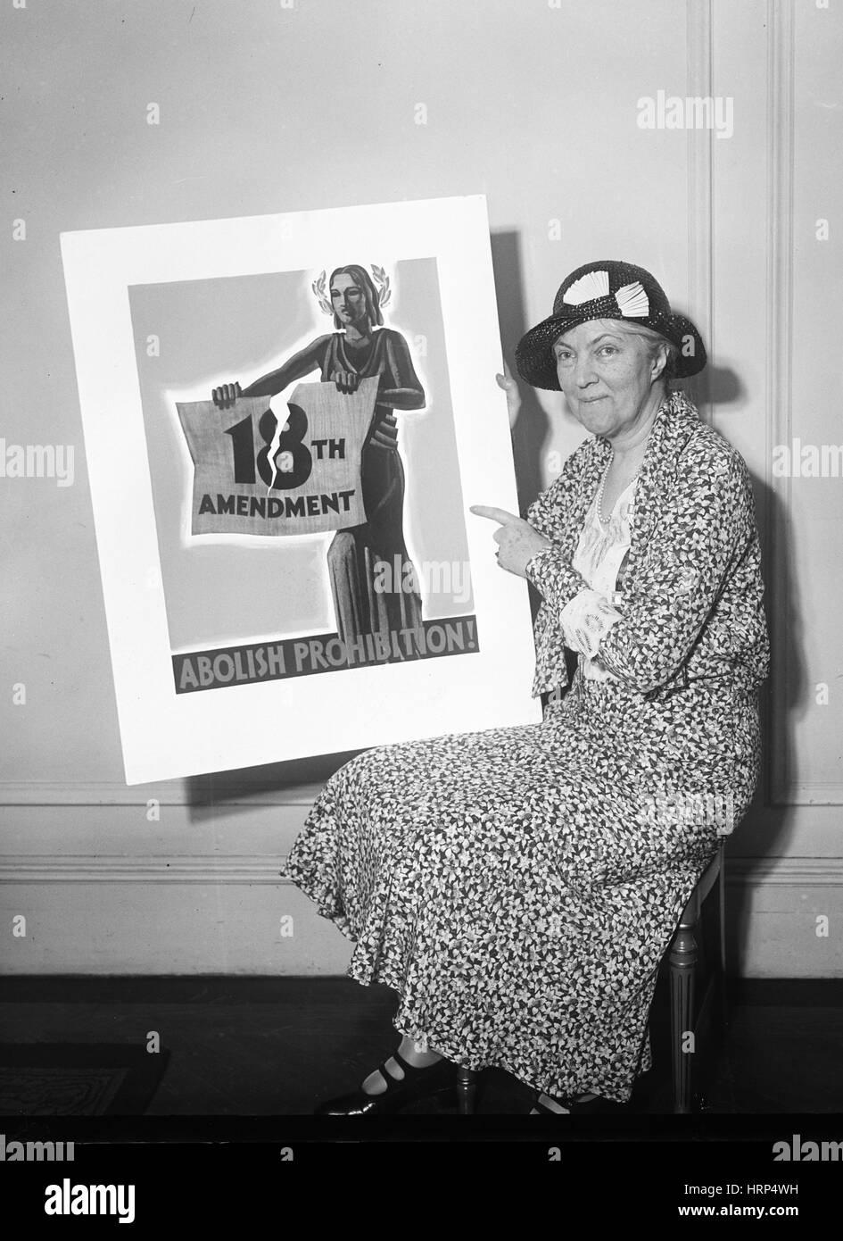 Abolire il divieto, 1931 Immagini Stock