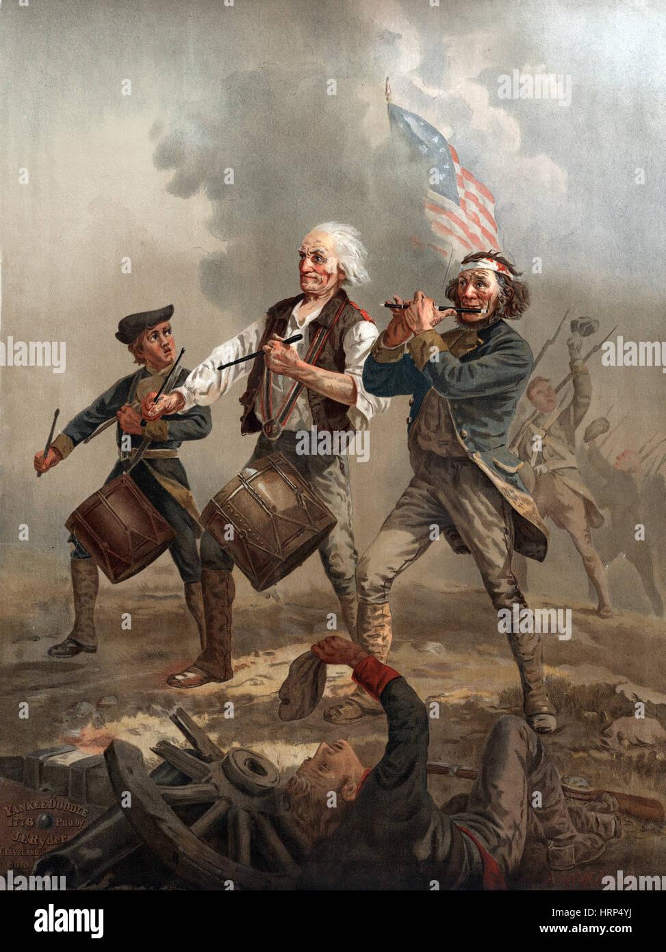 Lo Spirito del '76, Yankee Doodle Immagini Stock