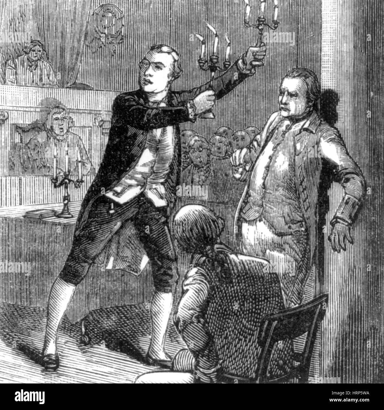 Aaron Burr a Manhattan e prova di omicidio, 1800 Immagini Stock
