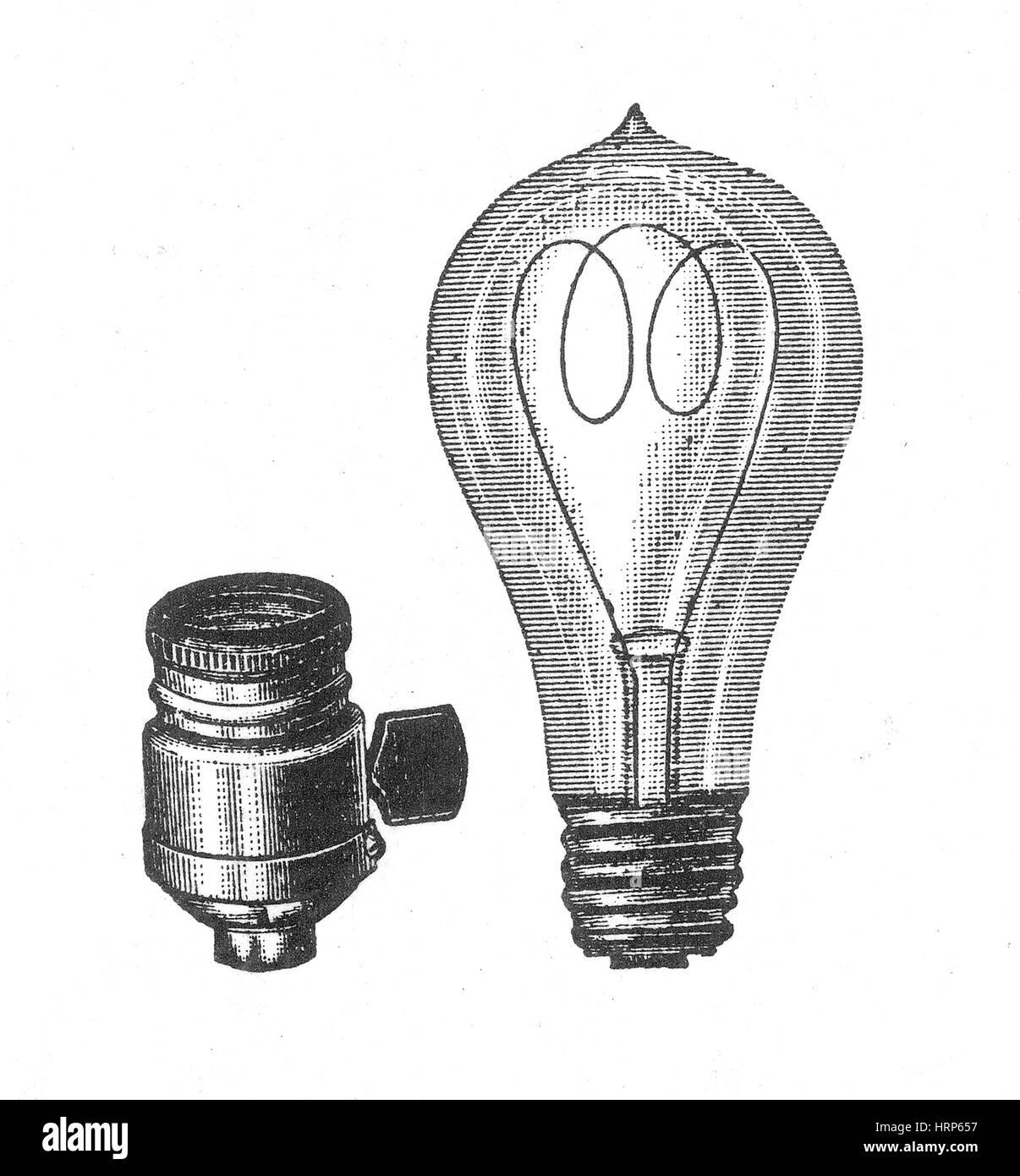 Lampadina A Incandescenza Storia thomas edison, lampada ad incandescenza, secolo xix foto
