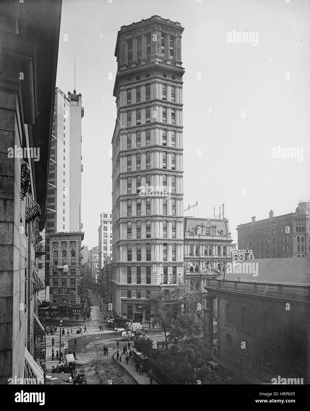 New York, San Paolo Edificio, 1901 Immagini Stock