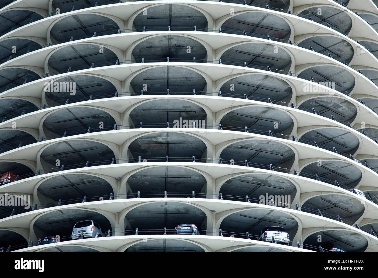 Marina City, Chicago, Illinois USA Immagini Stock