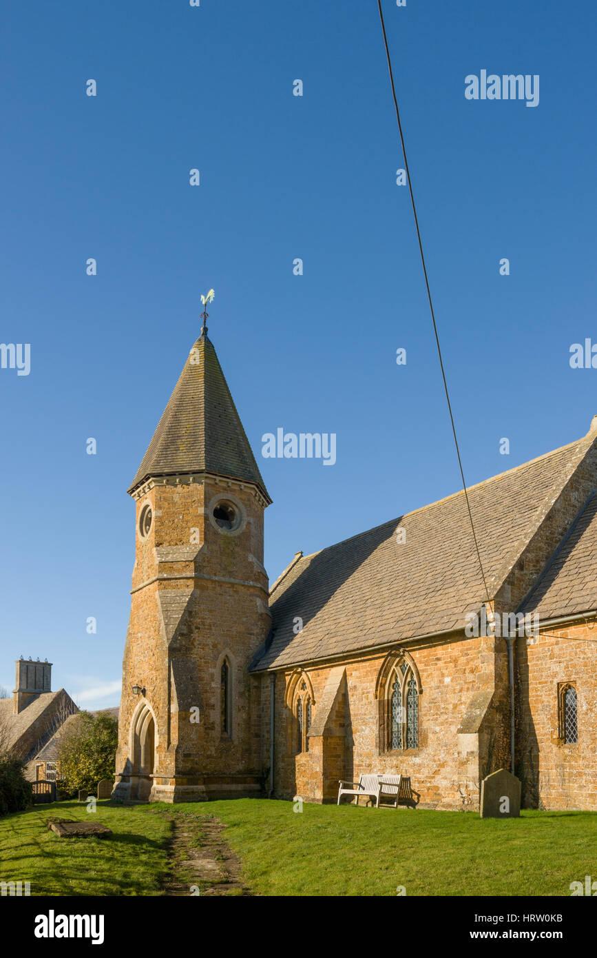 Chiesa di San Giovanni Evangelista, Barford San Giovanni, Oxfordshire, England, Regno Unito Foto Stock