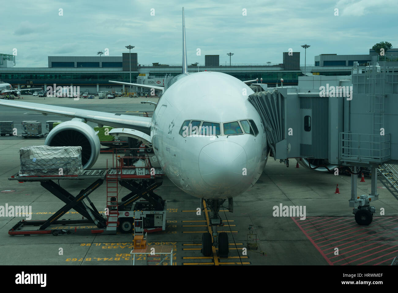 25.01.2017, Singapore, Repubblica di Singapore, in Asia - un Thai Airways piano passeggero è parcheggiato in Immagini Stock
