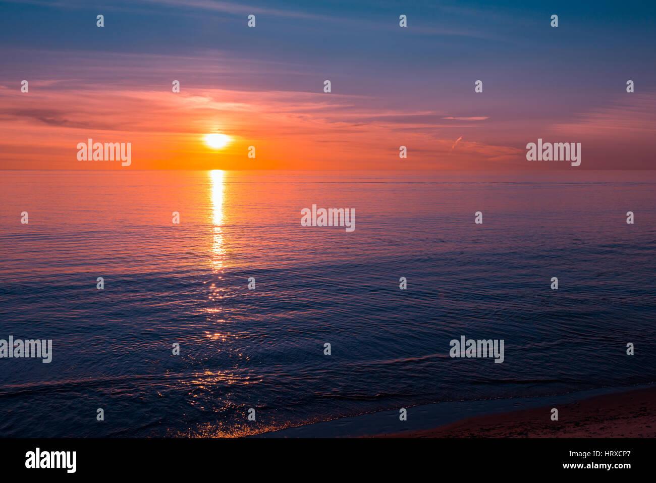 Tramonto sull'oceano, Sud Australia Immagini Stock