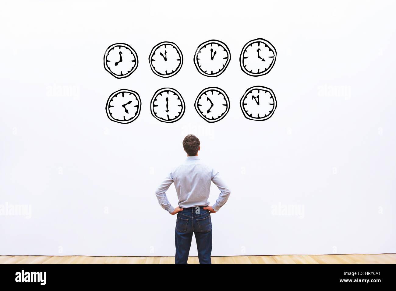 Ora il concetto di gestione Immagini Stock