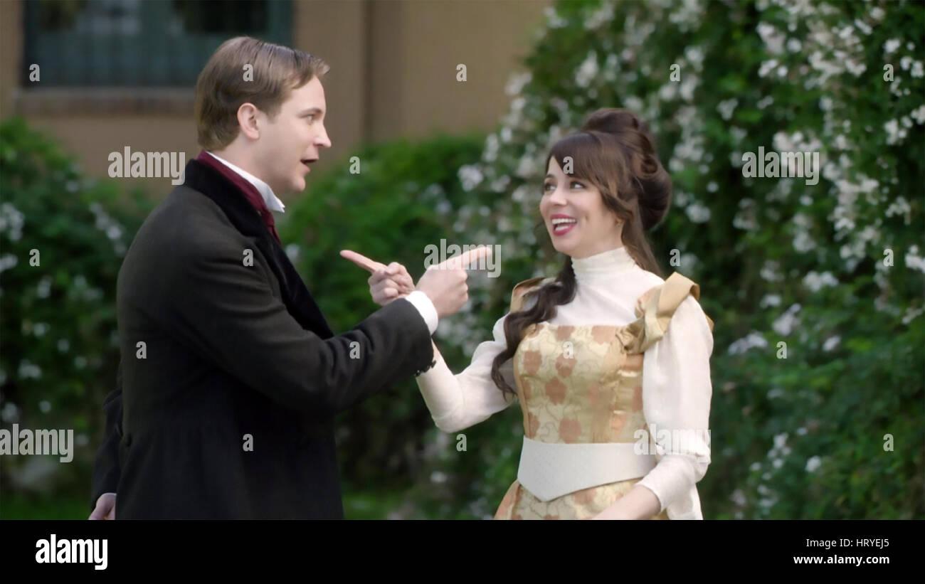 Un altro periodo centrale di commedia serie TV con Natasha Leggero e Michael Welch Immagini Stock