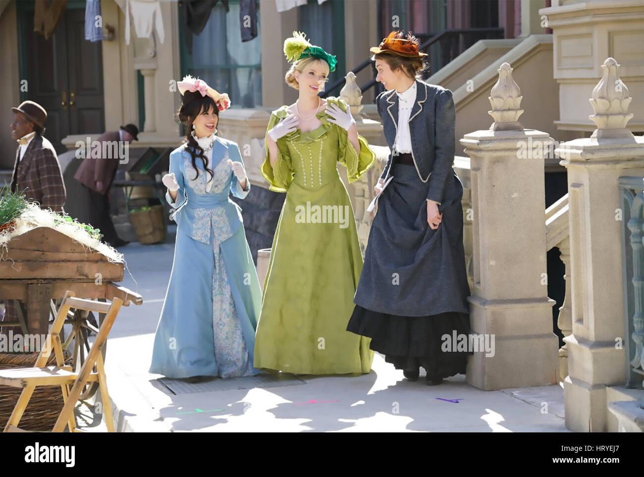 Un altro periodo centrale di commedia serie TV con da sinistra Natasha Leggero, Riki Lindhome, Lauren Lapkus Immagini Stock