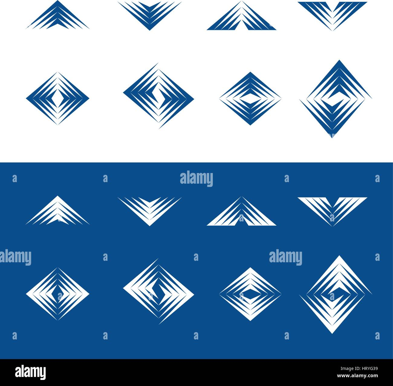 Dynamic universale elementi di design - Serie 2 Immagini Stock