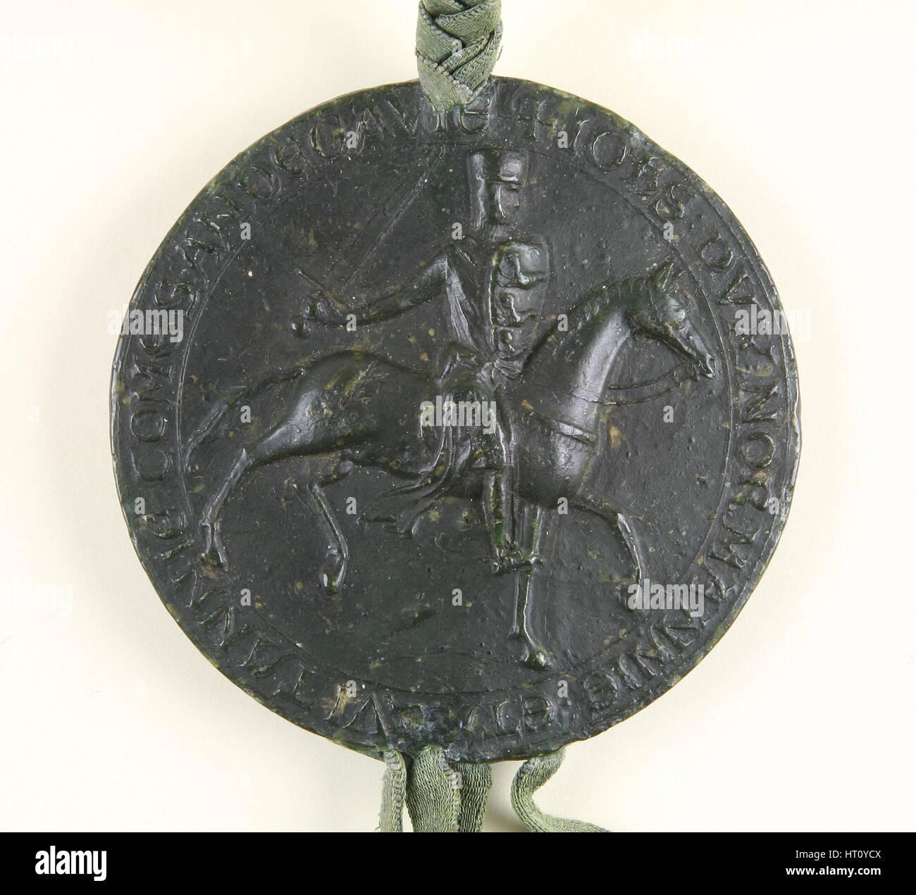 Ottima tenuta del Re Giovanni, 1203. Artista: oggetto storico Immagini Stock